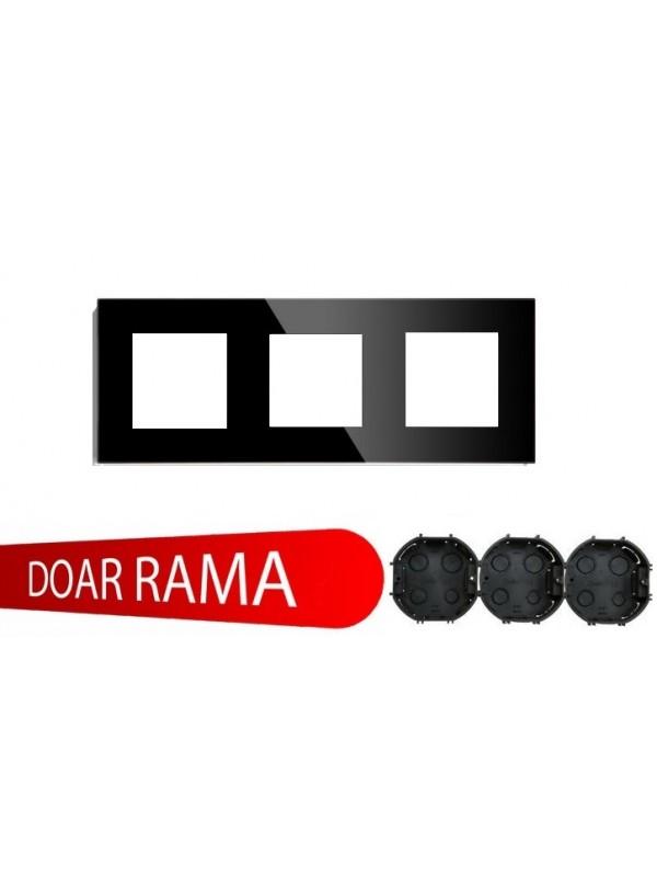 Rama Tripla Sticla Neagra