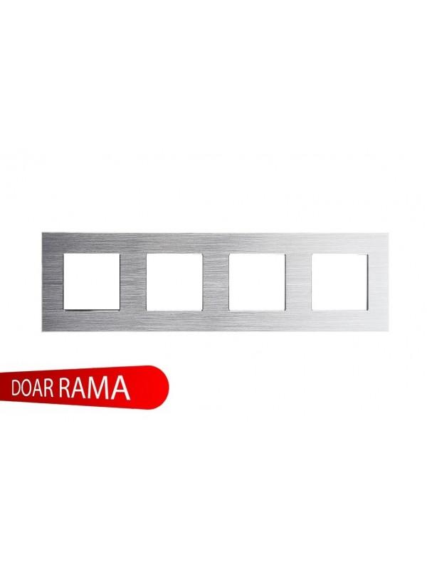 Rama Cvadruplu Aluminiu Argintiu