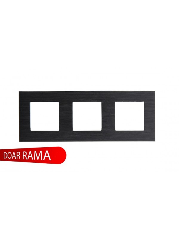 Rama Tripla Aluminiu Neagra