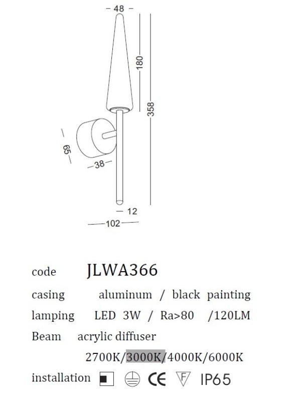 Lampă Exterior JLWA366