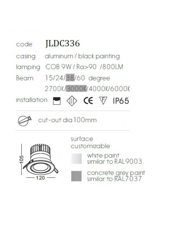 Lampă Downlight  JLDC336