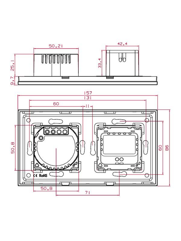 Întrerupătoare + Priza USB Touch JLW2-F218