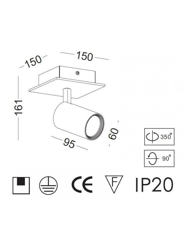 Lampă Spot Unic  JLBL237-WT