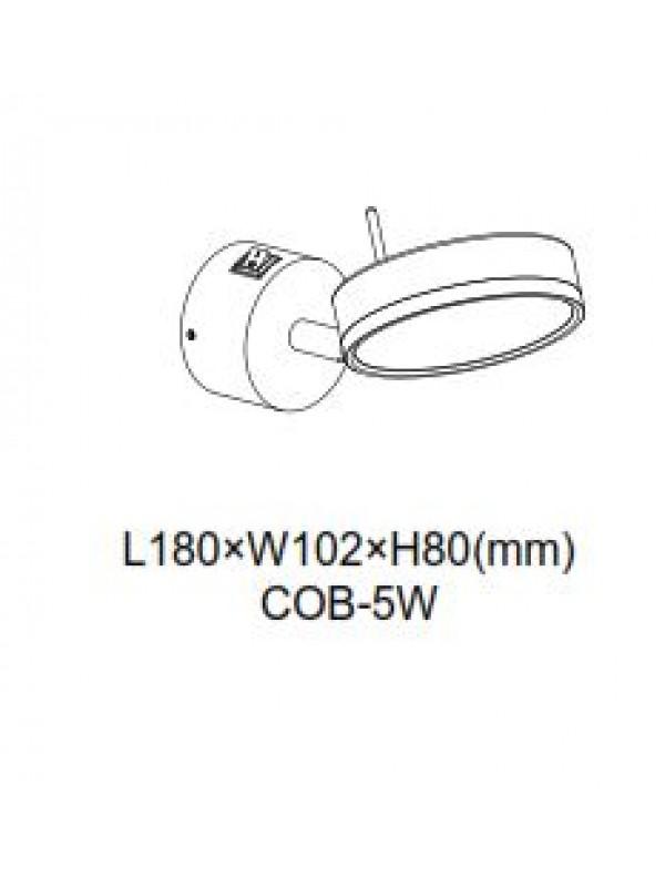 Lampa incastrata rotunda pentru scării JLSL004