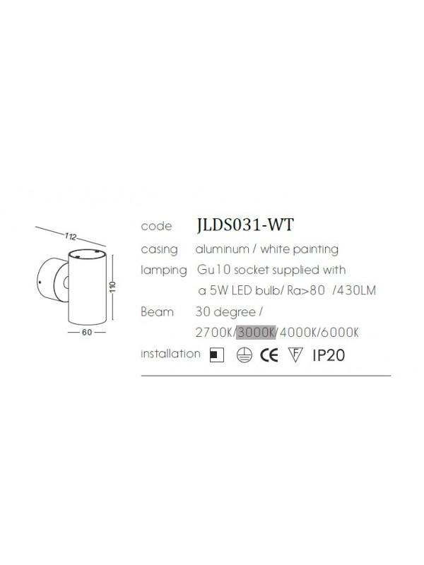 Lampă de perete JLDS031-WT