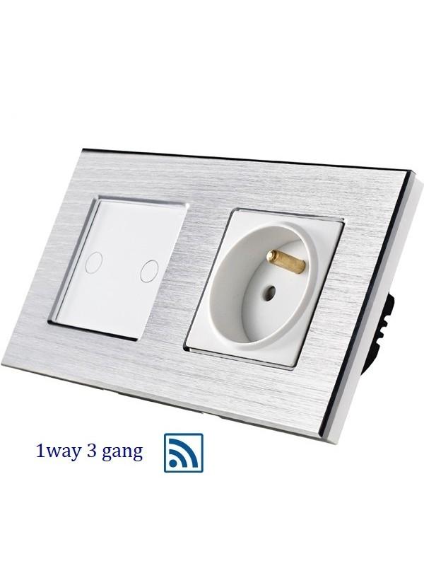 Întrerupătoare WIFI Touch + PRIZA  JLW2-F236