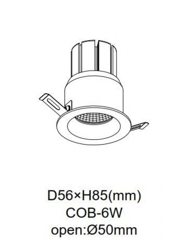 Lampă Spot incastrat JLDC992-BK