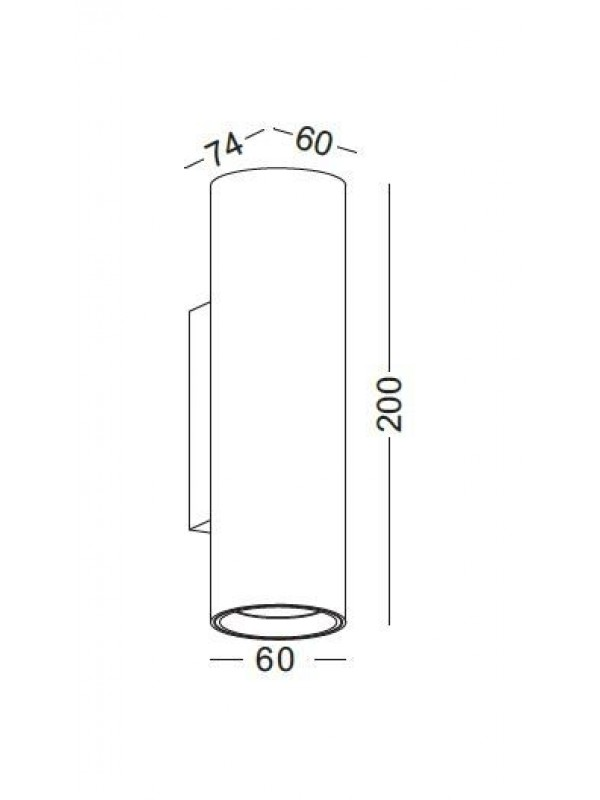 Lampă led decorativă cilindrică JLWA278-SL