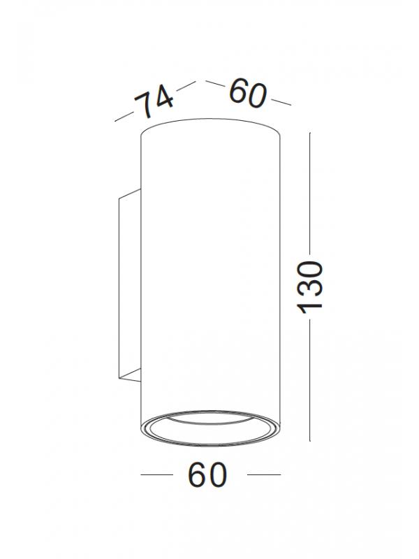 Lampă led decorativă cilindrică JLWA276-BK