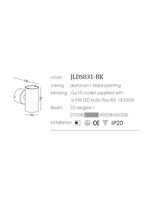 Lampă de perete JLDS031-BK