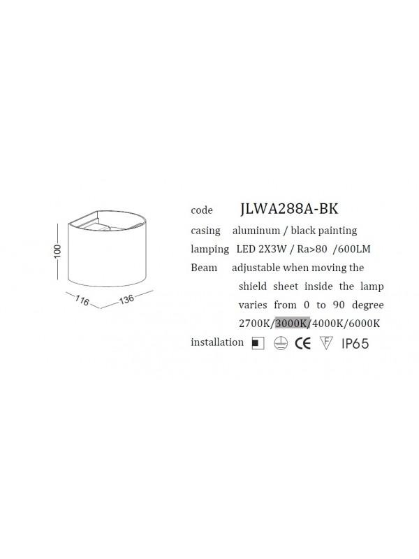 Lampă Exterior JLWA288A-WT