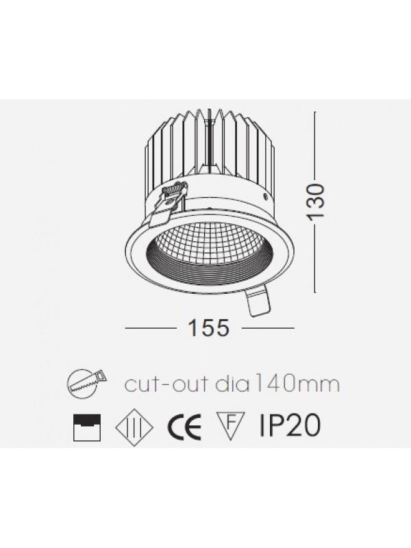 Lampă Spot incastrat JLDC207-24W