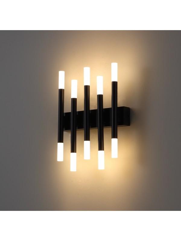 Lampa de perete tip cilindrice slim cu lumina UP & DOWN JLWA242 -BK Temperatura de lumina 4000 K (alb neutra )