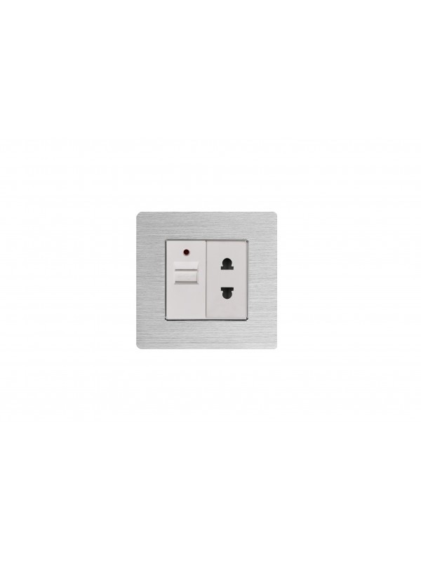 Priza 2 pini / USB 1 A JLM2-117-SL